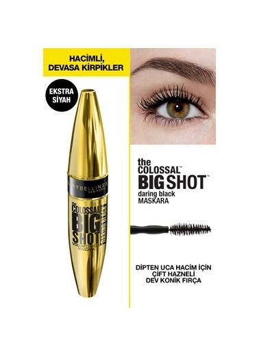 Maybelline The Colossal Big Shot Daring Black Maskara - Ekstra Siyah Siyah